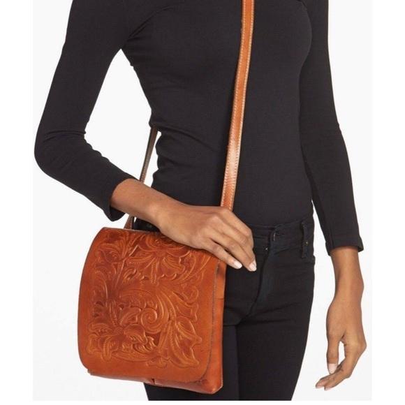 Patricia Nash Handbags - Patricia Nash Leather Crossbody Bag Tooled Purse